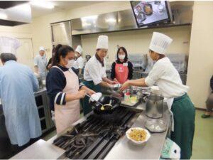 中国料理【夜】オープンキャンパスの様子