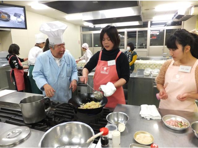 2018/1/26中国料理【夜】オープンキャンパスの様子